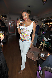 SONIQUE at a party to celebrate the opening of Barts, Sloane Ave, London on 26th February 2009.