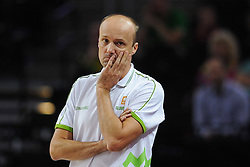 Jure Zdovc, head coach of Slovenia during friendly match between National Teams of Slovenia and New Zealand before World Championship Spain 2014 on August 16, 2014 in Kaunas, Lithuania. Photo by Robertas Dackus  / Sportida.com