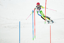 """Ana Bucik (SLO) competes during 2nd Run of FIS Alpine Ski World Cup 2017/18 Ladies' Slalom race named """"Snow Queen Trophy 2018"""", on January 3, 2018 in Course Crveni Spust at Sljeme hill, Zagreb, Croatia. Photo by Vid Ponikvar / Sportida"""