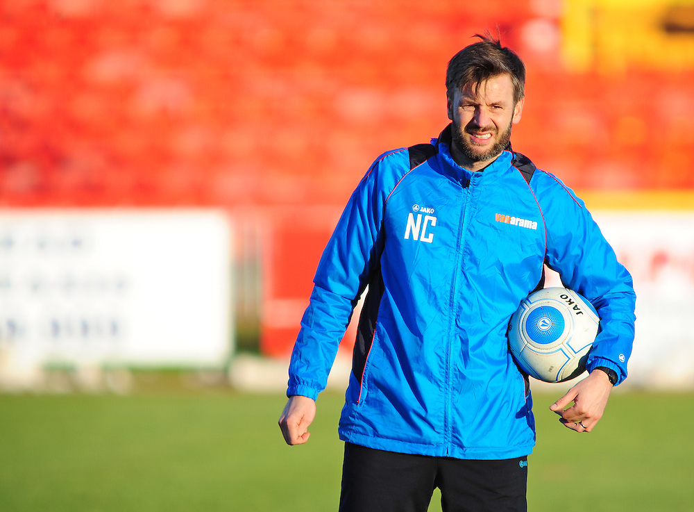 Lincoln City's assistant manager Nicky Cowley during the pre-match warm-up <br /> <br /> Photographer /Andrew VaughanCameraSport<br /> <br /> The Buildbase FA Trophy - The Buildbase FA Trophy Second Round - Gateshead v Lincoln City - Saturday 14th January 2017 - Gateshead International Stadium - Gateshead<br />  <br /> World Copyright © 2017 CameraSport. All rights reserved. 43 Linden Ave. Countesthorpe. Leicester. England. LE8 5PG - Tel: +44 (0) 116 277 4147 - admin@camerasport.com - www.camerasport.com
