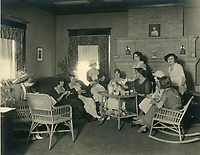 1920 Sunday tea at the Hollywood Studio Club on Carlos Ave.