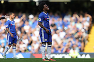 Willian of Chelsea reacts in frustration after his free kick went over the crossbar.  Premier league match, Chelsea v Burnley at Stamford Bridge in London on Saturday 27th August 2016.<br /> pic by John Patrick Fletcher, Andrew Orchard sports photography.