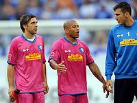 Fotball<br /> Tyskland<br /> Foto: Witters/Digitalsport<br /> NORWAY ONLY<br /> <br /> 16.08.2009<br /> <br /> v.l. Daniel Imhof, Joel Epalle, Daniel Fernandes Bochum<br /> Bundesliga FC Schalke 04 - VfL Bochum 3:0
