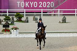 TOKYO - Olympische Spiele / Olympic Games 2021<br /> <br /> KELLOCK Lindsay (CAN), Sebastien<br /> Grand Prix de Dressage<br /> <br /> Tokio, Equestrian Park<br /> 25. July 2021<br /> © www.sportfotos-lafrentz.de/Stefan Lafrentz