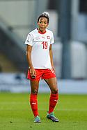 Eseosa Aigbogun (#19) of Switzerland during the 2019 FIFA Women's World Cup UEFA Qualifier match between Scotland Women and Switzerland at the Simple Digital Arena, St Mirren, Scotland on 30 August 2018.