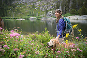 Carol and Jasper, Hike to Lake Margaret, Eldorado National Forest, California