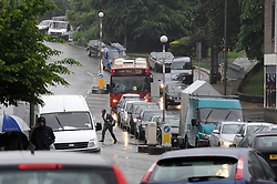 © Licensed to London News Pictures. 27/05/2014<br /> More May Rain today (27.05.2014)<br /> Heavy rain this morning for Commuters and drivers at Masons Hill,Bromley South ,Bromley,Kent.<br /> Photo credit :Grant Falvey/LNP