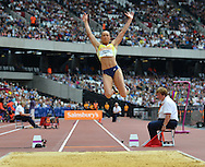 GB long jumper Jessica Ennis-Hill during the Sainsbury's Anniversary Games at the Queen Elizabeth II Olympic Park, London, United Kingdom on 25 July 2015. Photo by Mark Davies.