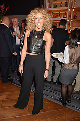 KELLY HOPPEN at a party to celebrate the 21st anniversary of The Roar Group hosted by Jonathan Shalit held at Avenue, 9 St.James's Street, London on 21st September 2015.