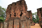 The Royal palace in the Citadel, UNESCO World Heritage Site, the ancient city of Polonnaruwa, Sri Lanka, Asia