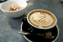 Detail of a cappuccino, served at Cala, the first U.S. restaurant from Mexican chef Gabriele Camara, Monday, April 4, 2016, in San Francisco, Calif. (Photo by D. Ross Cameron)