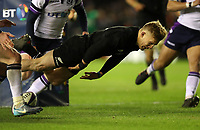 Rugby Union - 2017 Autumn Internationals - Scotland vs. New Zealand<br /> <br /> Damian McKenzie of New Zealand scores the second try at Murrayfield.<br /> <br /> COLORSPORT/LYNNE CAMERON