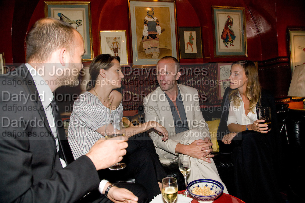MAX WIGRAM; SAFFRON ALDRIDGE; JOHNNY SHAND KYDD, PHOEBE PHILO. Richard Prince opening at the Serpentine gallery and afterwards at Annabels. London. 25 June 2008 *** Local Caption *** -DO NOT ARCHIVE-© Copyright Photograph by Dafydd Jones. 248 Clapham Rd. London SW9 0PZ. Tel 0207 820 0771. www.dafjones.com.