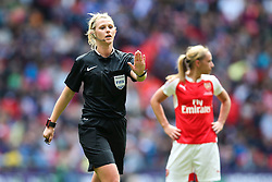 Referee Sarah Garratt - Mandatory byline: Jason Brown/JMP - 14/05/2016 - FOOTBALL - Wembley Stadium - London, England - Arsenal Ladies v Chelsea Ladies - SSE Women's FA Cup