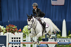 October 25, 2017 - Washington, DC, U.S - American GEORGINA BLOOMBERG, riding Manodie II H, competes in the International Jumper 1.45m Time First Round held at the Capital One Arena in Washington, DC. (Credit Image: © Amy Sanderson via ZUMA Wire)