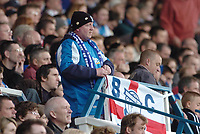 Photo: Leigh Quinnell.<br /> Birmingham City v Newcastle United. The Barclays Premiership. 29/04/2006. A Birmingham fan packs his flag away early ready for the championship.