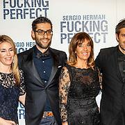 NLD/Amsterdam/20150309 - Premiere Fucking Perfect, Sergio Herman met zijn moeder en broer en diens partner