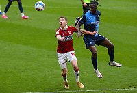 Middlesbrough's Duncan Watmore vies for possession with Wycombe Wanderers' Anthony Stewart<br /> <br /> Photographer Alex Dodd/CameraSport<br /> <br /> The EFL Sky Bet Championship - Middlesbrough v Wycombe Wanderers - Saturday 8th May 2021 - Riverside Stadium - Middlesbrough<br /> <br /> World Copyright © 2021 CameraSport. All rights reserved. 43 Linden Ave. Countesthorpe. Leicester. England. LE8 5PG - Tel: +44 (0) 116 277 4147 - admin@camerasport.com - www.camerasport.com
