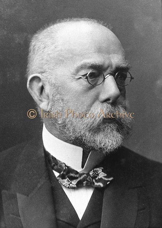Robert Koch (1843-1910) German bacteriologist and physician. Tubercule bacillus: Tuberculin: Cholera bacillus: Nobel prize for physiology and medicine 1905.