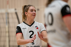 Tess de Vries of Apollo 8 in action during the first league match between Laudame Financials VCN vs. Apollo 8 on February 06, 2021 in Capelle aan de IJssel.