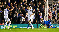 03.11.2011, St. Andrews Stadion, London, ENG, UEFA EL, Gruppe H, Birmingham City (ENG) vs FC Bruegge (BEL), im Bild Club Brugge's Thomas Meunier celebrates scoring the first goal against Birmingham City // during UEFA Europa League group H match between Birmingham City (ENG) and FC Bruegge (BEL) at St. Andrews , London, United Kingdom on 03/11/2011. EXPA Pictures © 2011, PhotoCredit: EXPA/ Propaganda Photo/ David Rawcliff +++++ ATTENTION - OUT OF ENGLAND/GBR+++++