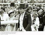Lord Vestey at the Derby. Epsom. 4 June 1986. Film 86409f4<br />© Copyright Photograph by Dafydd Jones<br />66 Stockwell Park Rd. London SW9 0DA<br />Tel 0171 733 0108