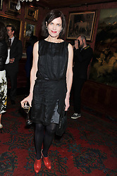 ELIZABETH McGOVERN at a party hosted by Justine Picardie, Editor-in-Chief of Harper's Bazaar UK and Glenda Bailey, Editor-in-Chief of Harper's Bazaar US to celebrate the end of London Fashion Week and the biggest-ever March issues of Harper's Bazaar, held at Mark's Club, Charles Street, London on 19th February 2013.