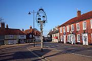 Village centre, Wickham Market, Suffolk, England