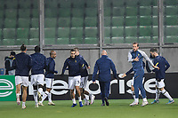 RAZGRAD, BULGARIA - NOVEMBER 05: Harry Winks and Harry Kane of Tottenham during the warm up before the game during the UEFA Europa League Group J stage match between PFC Ludogorets Razgrad and Tottenham Hotspur at Ludogorets Arena on November 5, 2020 in Razgrad, Bulgaria. (Photo by Alex Nicodim/MB Media)