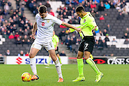 Milton Keynes Dons Dons midfielder Darren Potter (8) battles for possession with Northampton Town midfielder (on loan from Crystal Palace) Keshi Anderson (7) during the EFL Sky Bet League 1 match between Milton Keynes Dons and Northampton Town at stadium:mk, Milton Keynes, England on 21 January 2017. Photo by Dennis Goodwin.
