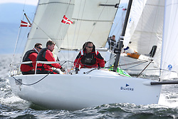 The Silvers Marine Scottish Series 2014, organised by the  Clyde Cruising Club,  celebrates it's 40th anniversary.<br /> Day 2, GBR117, Mojo, Donald Syme, Fairlie YC, J70<br /> Racing on Loch Fyne from 23rd-26th May 2014<br /> <br /> Credit : Marc Turner / PFM