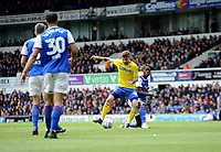 Leeds United's Mateusz Klich battles with Ipswich Town's Trevoh Chalobah<br /> <br /> Photographer Hannah Fountain/CameraSport<br /> <br /> The EFL Sky Bet Championship - Ipswich Town v Leeds United - Sunday 5th May 2019 - Portman Road - Ipswich<br /> <br /> World Copyright © 2019 CameraSport. All rights reserved. 43 Linden Ave. Countesthorpe. Leicester. England. LE8 5PG - Tel: +44 (0) 116 277 4147 - admin@camerasport.com - www.camerasport.com
