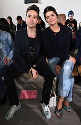Pixie Geldof and Nick Grimshaw on the front row during the Ashley Williams London Fashion Week SS18 show held at The Swiss Church, London. Photo credit should read: Doug Peters/EMPICS Entertainment