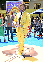 July 23, 2017 - Westwood, California, U.S. - T.J. Miller arrives for the premiere of the film 'The Emoji Movie' at the Regency Village theater. (Credit Image: © Lisa O'Connor via ZUMA Wire)