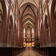 Polish catholic cathedral inside interior