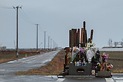A mall memorial to victims of the March 11th 2011 tsunami inside the Fukushima exclusion zone, Namie, Fukushima, Japan. Wednesday March 9th 2016. The Great East Japan Earthquake on March 11th 2011 was followed by a massive tsunami that levelled much of the Tohoku coast in north east Japan, killing around 18,000 people and causing meltdowns and explosions at the Fukushima Daiichi nuclear power station leading to the contamination and evacuation of a 20 kilometre exclusion zone around the plant.