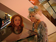 Camilla Lowther and Katrine Boorman. Selfridges Las Vegas dinner hosted by  hon Galen , Hillary Weston and Allanah Weston. Selfridges Oxford St. 20 April 2005. ONE TIME USE ONLY - DO NOT ARCHIVE  © Copyright Photograph by Dafydd Jones 66 Stockwell Park Rd. London SW9 0DA Tel 020 7733 0108 www.dafjones.com