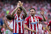 Fernando Torres and Saul Iniguez during the last match to be played by Atletico de Madrid at Vicente Calderon Stadium in Madrid, May 28, 2017. Spain.. (ALTERPHOTOS/Rodrigo Jimenez)