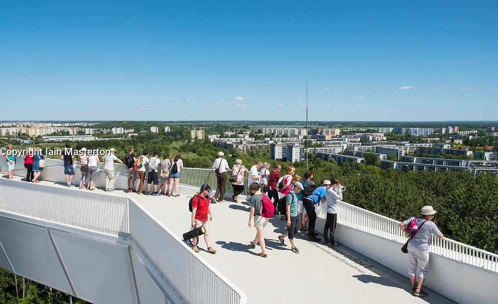 Visitors on viewing platform at IFA 2017 International Garden Festival (International Garten Ausstellung) in Berlin, Germany