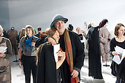 TRICIA JONES; RON ARAD, Yohji Yamamoto exhibition opening. V & A Museum. London. 10 March 2011. -DO NOT ARCHIVE-© Copyright Photograph by Dafydd Jones. 248 Clapham Rd. London SW9 0PZ. Tel 0207 820 0771. www.dafjones.com.