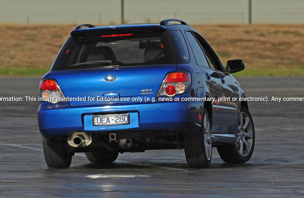 Leeanne Boyson.Subaru Impreza WRX.SAU Deca Motorkhana sponsored by Micolour.Shepparton, Victoria .23rd of May 2009.(C) Joel Strickland Photographics.Use information: This image is intended for Editorial use only (e.g. news or commentary, print or electronic). Any commercial or promotional use requires additional clearance.