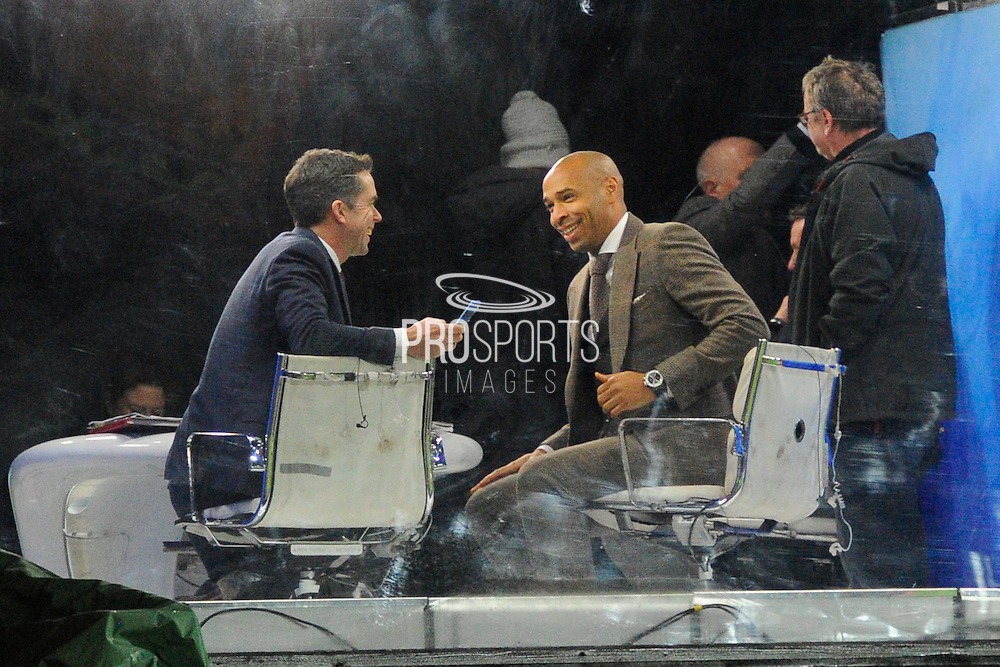 Arsenal legend Thierry Henry in the studio before the Premier League match between Bournemouth and Arsenal at the Vitality Stadium, Bournemouth, England on 3 January 2017. Photo by Graham Hunt.