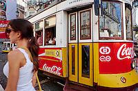 Portugal, Lisbonne, Portugal, quartier de Baixa pombalin, tramway numero 28 // Portugal, Lisbon, tram 28, Baixa pombalin