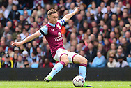 James Chester of Aston Villa in action.  EFL Skybet championship match, Aston Villa v Birmingham city at Villa Park in Birmingham, The Midlands on Sunday 23rd April 2017.<br /> pic by Bradley Collyer, Andrew Orchard sports photography.