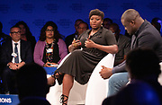 Fatoumata Ba, Founder and Chief Executive Officer, Janngo, France; Young Global Leader speaking during the session Africa's Innovators of the Year at the World Forum World Economic Forum on Africa 2019. Copyright by World Economic Forum / Greg Beadle