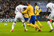 Juventus midfielder Miralem Pjanic takes a free kick during the Champions League match between Tottenham Hotspur and Juventus FC at Wembley Stadium, London, England on 7 March 2018. Picture by Toyin Oshodi.