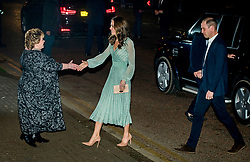 Lord Lieutenant of Belfast Fionnuala Jay-O'Boyle greets the Duke and Duchess of Cambridge outside the Empire Music Hall in Belfast, as part of their two day visit to Northern Ireland.