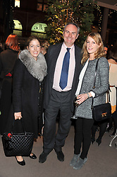 Left to right, the HON.VICTORIA TRYON, WILLIAM CASH and EMMA WIGAN at a party to celebrate the launch of Carol Woolton's book 'Drawing Jewels For Fashion' held at Asprey, 167 New Bond Street, London W1 on 10th November 2011.