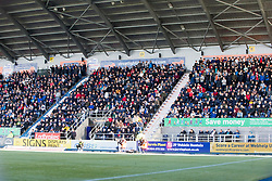 South stand. Falkirk 2 v 0 Dunfermline, Scottish Challenge Cup played 7/9/2017 at The Falkirk Stadium.