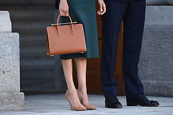 The Duke and Duchess of Sussex at Government Buildings during a meeting with Taoiseach, Leo Varadkar as part of their visit to Dublin, Ireland.